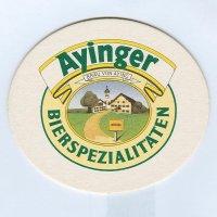 Ayinger podstawka Awers