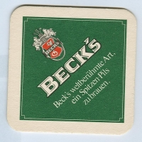 Beck's podstawka Awers