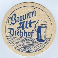Brauerei alt podstawka Awers