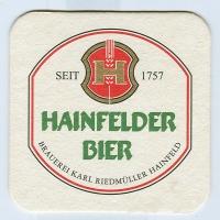 Hainfelder podstawka Awers