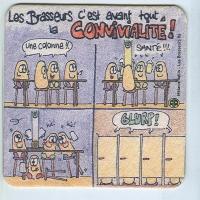 Les Brasseurs podstawka Awers